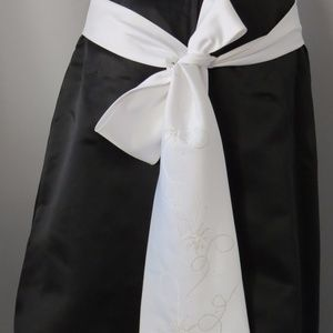 Eden Maids Dresses - Eden Maids Matte Satin Strapless Dress, Size: 16